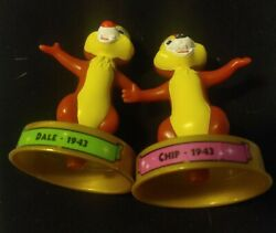 Disney 100 Years Of Magic Figurine Chip And Dale Chipmunks 2002 Rescue Rangers