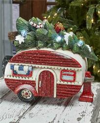 Nostalgic Vintage Led Marquee Lighted Christmas Camper Holiday Home Decor