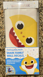 Pinkfong Baby Shark Family Wall Decals w 3D Action NEW FREE SHIPPING