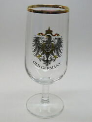 Beer Stem Glass Old Germany Crest Coat Of Arms Eagle With Crown And Shield