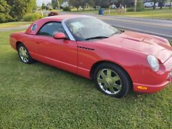 2003 Ford Thunderbird 3.9l 2 Door Convertible Hardtop Torch Red Low Milage
