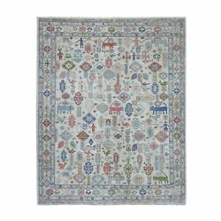 8and0391x9and0397 Peshawar With Pop Of Color Figurines Afghan Wool Oriental Rug R54924