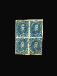 Usa Stamp/confederate States/regular Issues -mint Og And H Vf S4 Block Of 4 With