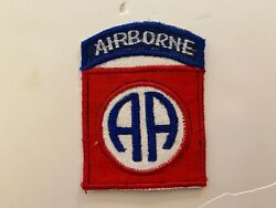 Pk640 Original Vietnam Us Army 82nd Airborne Division Local Made Patch  Wc7