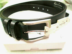 Robert Graham-laconia French Navy Paisley Tip Leather Belt-98-42