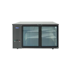 Atosa Usa Sbb59ggraus2 57 Two Section Back Bar Cooler With Glass Door 15.0 ...