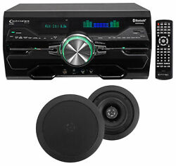 Dv4000 4000w Bluetooth Home Theater Dvd Receiver+2 5.25 Black Ceiling Speakers