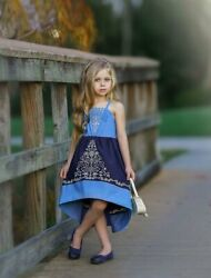 New Dollcake Bid Farewell High Low Blue Dress Party Special Photo Girls Size 2