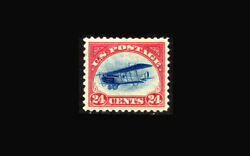 Us Air Mail Stamp-mint And Nh Super B Sc3 Very Large Margins All Around