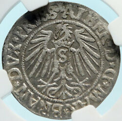 1541 Germany Prussia Kingdom Duke Albert Antique Silver Groschen Ngc Coin I83754