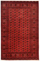 5018 Beautiful Red Bukhara Wool Oriental Hand Knotted Carpet Rug 285 X 189 Cm
