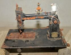 Rare Antique Wilson Cast Iron Sewing Machine Treadle Collectible 1870's Tool