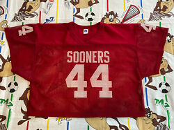 Brian Bosworth 44 Oklahoma Sooners Red Jersey L/xl Mesh Russell Athletic Vtg