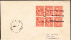 Wwii Stores Ship Uss Polaris Af-11 Wwii Censored Naval Cover 1324