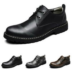 Brogue Mens Faux Leather Shoes Business Work Oxfords Non-slip Flats Office New L