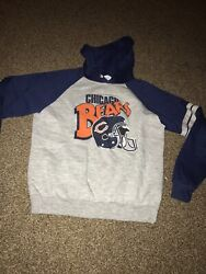 Chicago Bears Pullover Hoodie Size L Blue Grey Xl