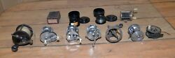 8 Early Antique And Vintage Fishing Reels Horrocks 1225 And Ocean Pride Plus More