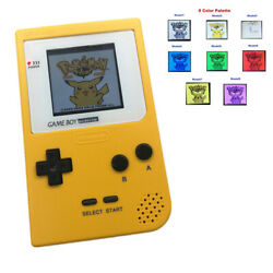 8 Colors Palette Gbp Game Console With 5 Segment Lcd Kit W/white Lens -yellow