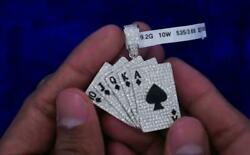 Playing Cards Díamond Pendant 3.80 Carats You Dream It We Make It,we Do Customs