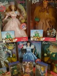 Mattel Wizard Of Oz Complete Barbie Doll And Munchkin Dolls