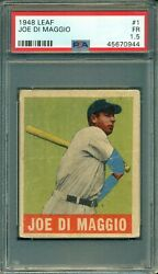 Joe Dimaggio 1948 Leaf #1 ** PSA 1.5 ** Hall of FameYankees LegendGreat Colors