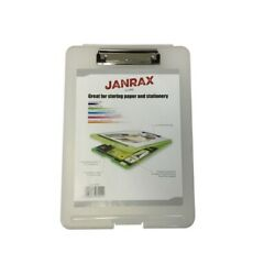 Pack Of 36 A4 Clear Clipboard Box Files - Storage Filing Case