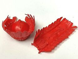 Marx Vintage Johnny West Adventure Jwa Chief Cherokee Red Feathered Headdress