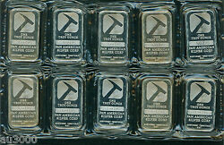 10 1 Oz Pan American Silver Bar 0.99 Fine Bullion Sealed Untouched Andin Hand
