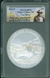 2012-p Chaco Culture Np Atb 5 Oz. Silver Pcgs Sp70 Theodore Roosevelt Sp-70