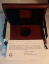 Us Mint Box And Coa For 2014-w 50c High Relief Gold Proof Jfk Kennedy No Coins