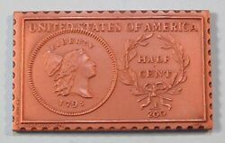 1795 United States Liberty Cap 1/2 Half Cent Numistamp Medal Coin 1976 Mort Reed