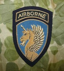 Us Army 13th Airborne Division Bullion Embroidered Blazer Badge