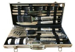 Romanticist 27pc Bbq Accessory Tool Set With Thermometer