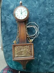 Vintage General Electric Mt. Vernon Electric Wall Clock Model 2097a - 26 Tall
