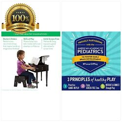 Melissa & Doug Learn-To-Play Classic Grand Piano With 30 Keys Color-Coded Songb