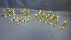 Lot 29 Britains Lead Toy Soldiers Marching Johill Rifle Left Police Marines