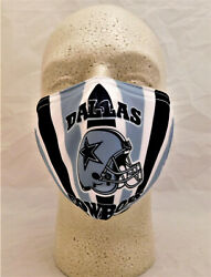 DALLAS COWBOYS  PPE Face Mask NFL Football Reusable Washable Double Layered $8.95