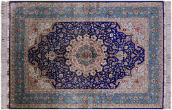 4and039 0 X 6and039 0and039and039 100 Silk High End Hand Knotted Rug - Q4821