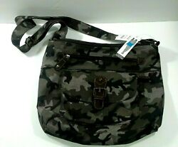 Cross over shoulder purse Camo green grey amp; black. New with tags $8.99