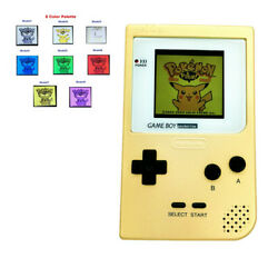 8 Colors Palette Gbp Game Console With 5 Segment Lcd Kit W/white Lens -gold