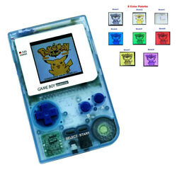 8 Colors Palette Mode Gbp Console With 5 Segment Lcd Kit W/white Lens-clear Blue