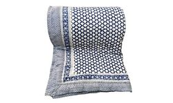 Beautiful Handmade White Quilt Of Queen Size Indian Quilts And Bedspreads Online