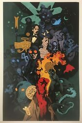 Hellboy Day 2019 Mike Mignola BPRD Double Sided Timeline 11x17 Art Print Poster $19.99