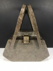 Vintage Beautiful Llewellyn Lucite Purse W/ Awesome Latch And Stunning Rhinestones