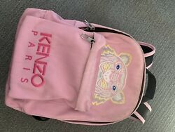 Kenzo Women Tiger Logo Embroidered Backpack Small $65.00