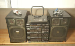 Sony Fh-215r Mini Component System With Cdp-17f Cd Player Remote - Boombox Apm