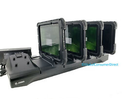 Lot Of 4x Zebra Et55 8.3 Android Rugged Tablet With Case Handstrap And Cradle