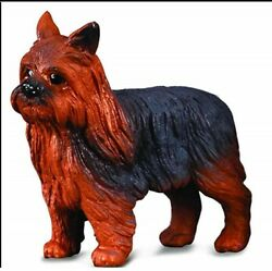 YORKSHIRE TERRIER DOG FIGURINE YORKIE BLACK BROWN TOY SIZE PET COLLECTA NEW
