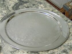 Hotel Silver Holloware Waiter Wide Flat Tray - Shabby Chic - Our Finethings4sale