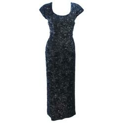 Bruce Arnold 1960s Black Beaded Gown Size 6